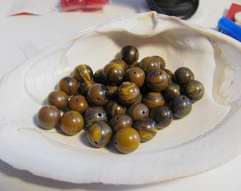 Brown Tiger Iron 10mm Beads