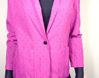 Pink 90s  blouse/blazer with small dots size 38