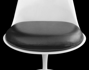 Black Vinyl Replacement Cushion for Saarinen or Burke Tulip Chair