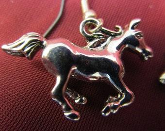 Silver Horse Earrings Silver Tone Dangle Earrings Horse Earrings Western Wear Horse Earrings Dangle Drop Earrings Pierced Earrings Horses