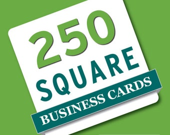 250 Square business card printing - Thick business cards