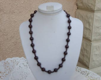 natural Garnet stone necklace with Maroon Africa natural stone 10 mm and 4 mm