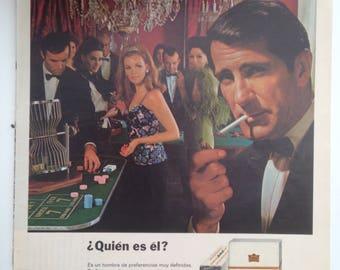 "Cigarettes ""KENT"" Vintage Ad (1968)"