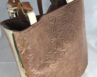 tote bag chic camel and gold