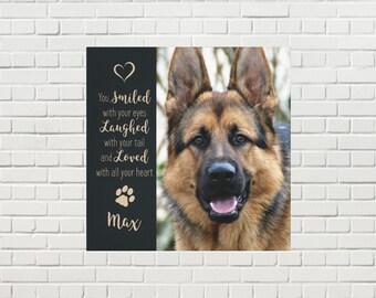 Pet Memorial Canvas 04SLLH - Pet Photo Canvas - Dog Canvas - Pet Memorial - Pet Portrait  - Custom Photo Canvas - Dog Memorial - Pet Loss