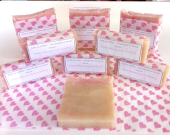 Luxurious Handmade Soap, coconut oil, sweet almond oil, sustainable palm oil, fragrance, essential oils