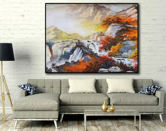 Abstract Painting, Landscape, Large wall art, Hand painted art on canvas, Modern oil painting wall art