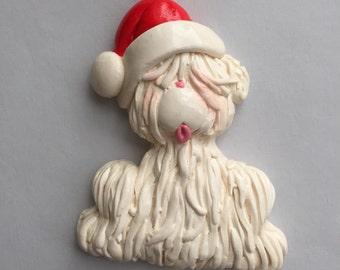 LAST ONE ...RETIRING...Personalized Shaggy Dog Christmas Ornament