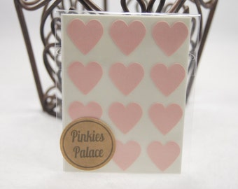 Baby Pink Heart Stickers 3/4 Inch Stickers Envelope Seals Packaging Stickers Baby Shower Stickers 36 stickers