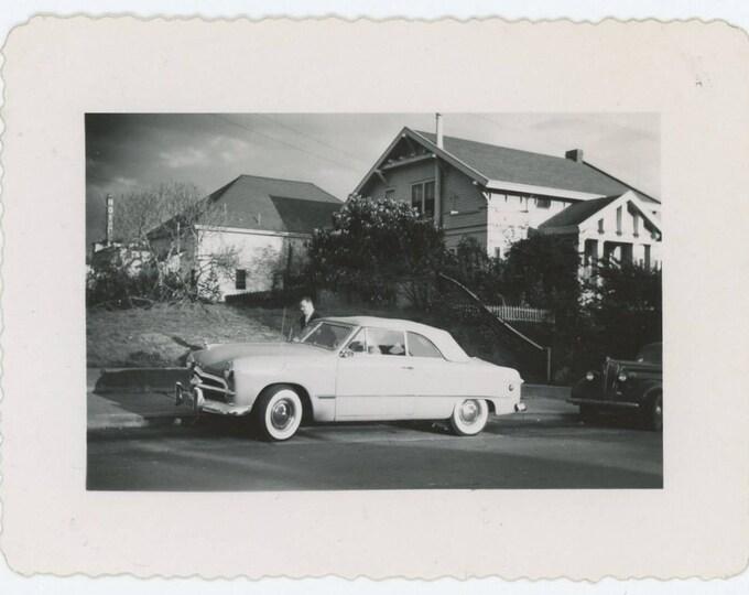 Vintage Snapshot Photo: c1950 Ford Crestliner Convertible (71544)