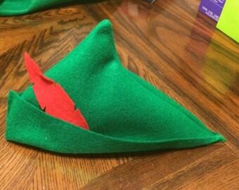 Peter Pan party favor felt hat