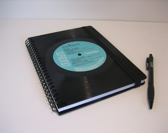 Vintage notebook ruled from records DIN A5 notebook