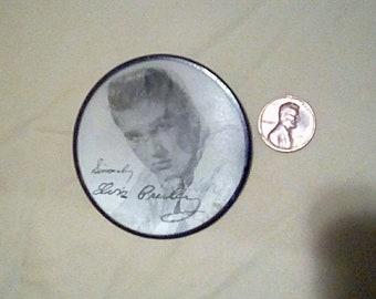1956 Pin Back Elvis Presley Vari Vue Vintage button Memphis Graceland