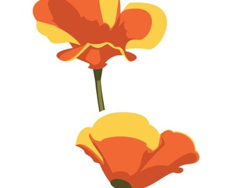 California Poppies Decal for your Car