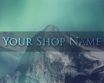 Personalised Etsy Shop Banner Set (Pre-made) - Aurora Borealis