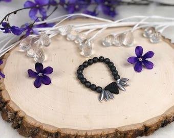 Triangle Lava Stone Diffuser Bracelet