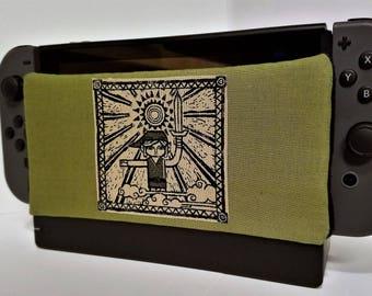 Nintendo Switch Dock Sock Cozy Microfiber Protector Made with Zelda fabric