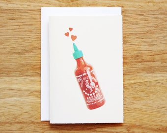 Sriracha Valentine's Day Card