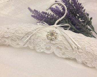 Bridal Gown Hanger, Wedding Hanger, Lace Dress Hanger, Elegant Hanger, Wedding Dress Hanger, Bridal Gift, Silk Dress Hanger, Padded Hanger