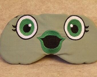 Embroidered Eye Mask for Sleeping, Cute Sleep Mask for Kids & Adults, Sleep Blindfold, Eye Shade, Slumber Mask, Fish Face Design, Handmade