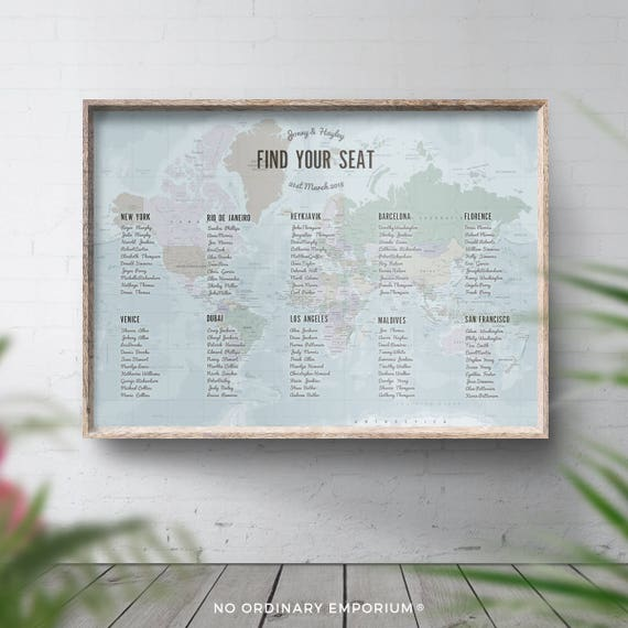 World seating chart travel theme table plan map seating gumiabroncs Choice Image