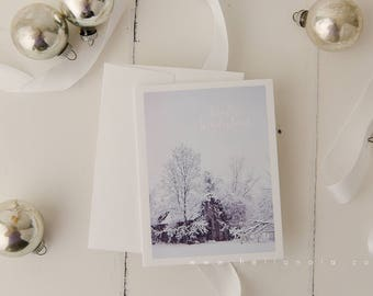 Winter Wonderland scene Holiday Greeting card