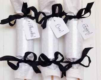 Ivory & Black Wedding Party Cracker