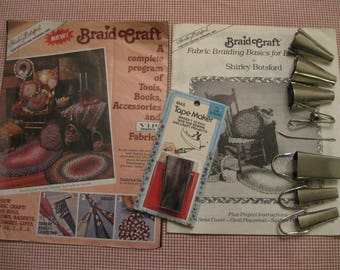 Bias Tape Maker-Braid Craft Fabric Braiding For Everyone book-Sewing Supplies-Shirley Botsford 1987- Rug Braiding Book-braided rug book