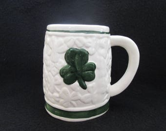 Vintage Shamrock St Patrick's Day Stein Mug St Patrick's Day Decor Irish Dishes Ireland Decor 998