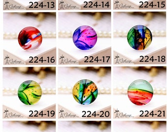 10PCS 10mm 12mm 14mm 16mm 18mm 20mm 25mm 30mm ( 25mm Flat )Handmade Photo Glass Cabochon -Image Glass Cabochon- - (HPGC-224) HPP-G