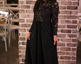 Long sleeves elegant lace Evening Dress from our 2018 mother of the bride and mother of the groom collection