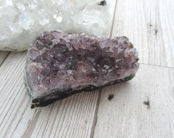 Amethyst Druzy Cluster - Gemstone Specimen - Natural Purple Crystal