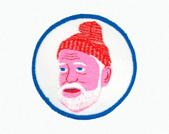 Steve Zissou From The Life Aquatic Iron On Patch Wes Anderson Bill Murray