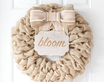 Spring Wreath for Double Doors, Baby Gift Easter Gift for Daughter, Spring Party Decorations