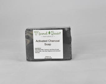 Square Activated Charcoal Soap - VEGAN