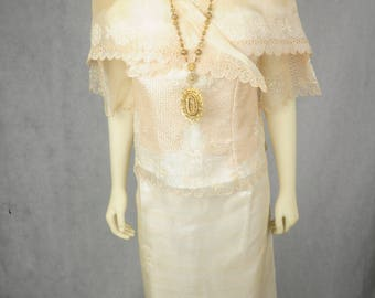 Filipiniana Maria Clara Attire Dress Gown Made to Order Color of your choice