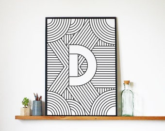 "Digital Download | Letter Print ""D"" 