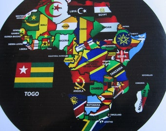 Togo/ African Map/ Stickers/ Decal/ Ancesruts