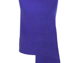 Royal Blue Handmade 100% Pure Cashmere Shawl Wrap Scarf - Pashminas and Wraps - Also available In 36 Other Colours