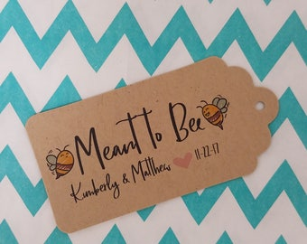 Wedding Gift Tags - Meant to Bee - Customizable Personalized (WT1805)