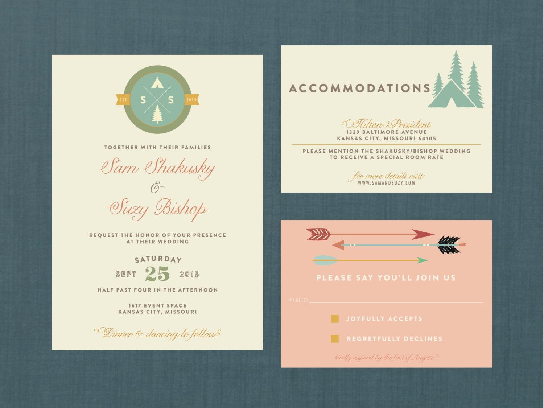 Whimsical Camp Wedding Invitation // DIY Printable Invite