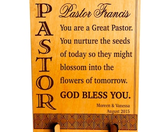Fathers Day Gift for Pastor - Gifts for Pastor Appreciation - Personalized Clergy Gift - Father's Day Plaque, PLP052
