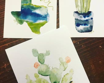 succulents watercolors