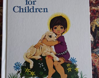 Bible Stories for Children illustrated by Janet and Anne Grahame Johnstone Ideals Publishing Dean and Son 1981 vintage children's book