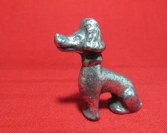 Pewter Poodle Dog  Figurine