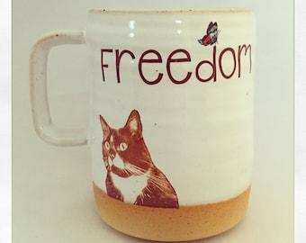 Freedom- Monkey the Cat 2018 Mug