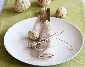 Green Table Runner –  Hemp & Organic Cotton