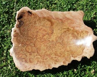Australian wooden York Gum burl bowl