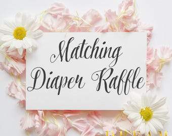 Matching Diaper Raffle ticket for your invitation