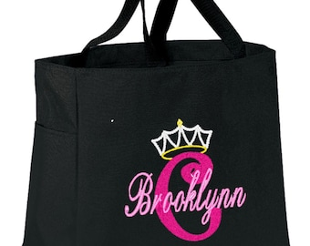 FUN TOTE Stacked Crown  Personalized FREE